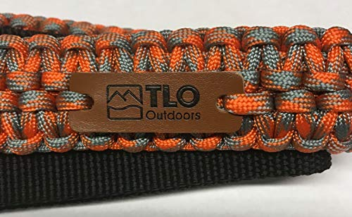 TLO Outdoors Paracord Gun Sling - Adjustable 2-Point Paracord Sling Rifle, Shotgun Crossbows (550 Rated Nylon, Kernmantle Paracord, Extra Wide, Sunset Orange)
