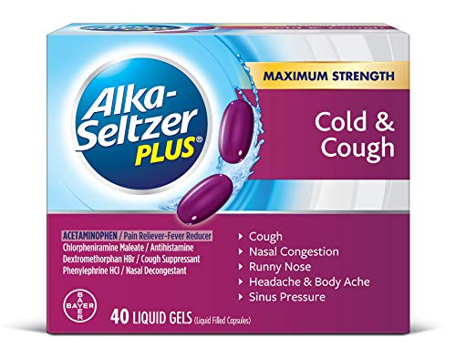 (Alka-Seltzer Plus Cold and Cough Liquid Gels, 40)