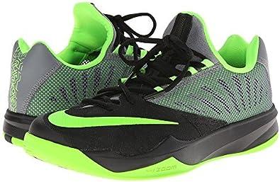 Península Amarillento Fatídico  Amazon.com   Nike Men's Zoom Run The One Basketball Shoes 653636-030  Black/Green   Basketball