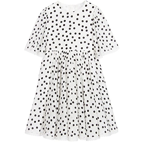 1950s Costumes Ebay (Haiyitian Monsoon robe girls costumes princess dress NEW brand child girls summer dresses lace white polka dot kids clothing)