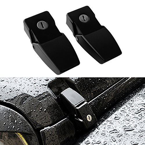 ICARS a pair of Anti-Thief Locking Hood Look Catch Latches Kit for 2007 2008 2009 2010 2011 2012 2014 2013 2014 2015 2016 2017 Jeep Wrangler JK JKU