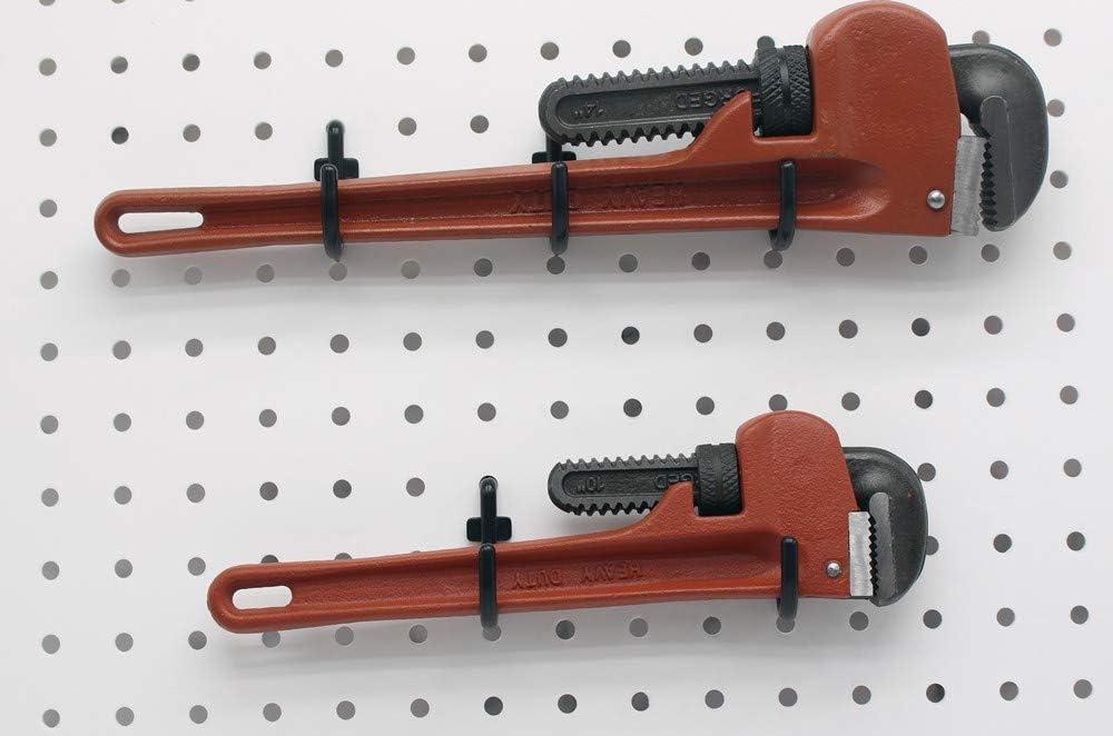 Pegboard Hooks 100 packs Large Size J Shape Peg Hooks Black Hooks Assortment Tool Storage Garage Organizer LARGE 100 PACK