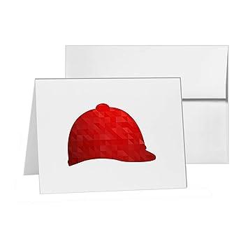 Casco de equitación Ecuestre seguridad protección tarjeta en blanco tarjetas de invitación unidades, 15 A