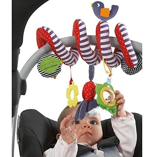 BeeSpring Kid Baby Crib Cot Pram Hanging Rattles Spiral Stroller Car Seat Toy (Best Group 3 Car Seat)