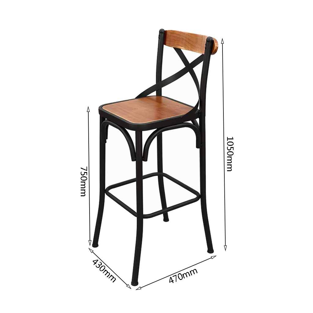 Amazon.com: Bar Stools Industrial Vintage Style Kitchen Pub Dining ...