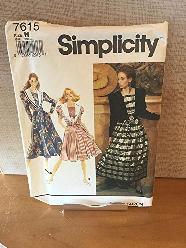 Vintage Uncut Simplicity Sz 6-10 Dress Pattern 7615