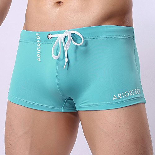 ee552f79ee F_Gotal Men's Swim Trunks Quick Dry Board Shorts Solid Color Swimming  Shorts Boxer Briefs Swimwear Bathing