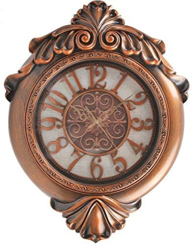 Hans Alice Wall Clock arge Indoor Outdoor Decorative Bronze – Universal Non Ticking Silent 29 Inches Bronze 2