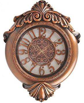Hans Alice Wall Clock arge Indoor Outdoor Decorative Bronze – Universal Non Ticking Silent 29 Inches Bronze 2