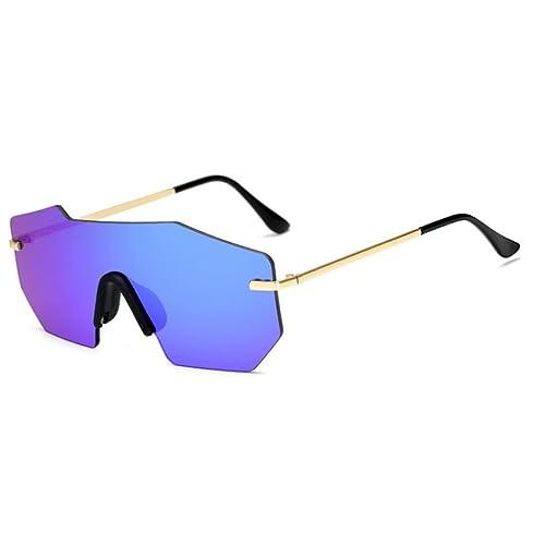 Occhiali da sole irregolare, Kword Uomini donne moda aviatore specchio Occhiali da sole