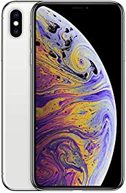 Apple iPhone XS Max (256GB, Silver) [Locked] + Carrier Subscription