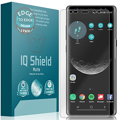 Galaxy Note 8 Screen Protector (2-Pack), IQ Shield Matte Full Coverage Anti-Glare Screen Protector for Galaxy Note 8 (Maximum Coverage, Edge to Edge) Bubble-Free Film