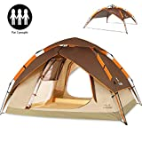 ZOMAKE Automatic Camping Tent 2 3 Person - 4 Season Backpacking Tent Portable Dome Quick Up Tent