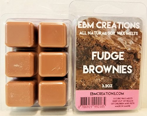 Fudge Brownies - Scented All Natural Soy Wax Melts - 6 Cube Clamshell 3.2oz Highly Scented!