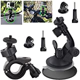 EEEKit aeecssories Kit for GoPro Hero 5 4 Black Session 3 Activeon CX Action Camera VTech Kidizoom - Bike Handlebar Mount for Camera - Car Suction Cup Mount