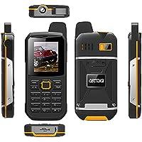 CECTDIGI F68 Dual Sim Unlocked Cell Phone 3000mah Battery Power Bank IP67 Waterproof Rugged Cell Phone (Yellow)