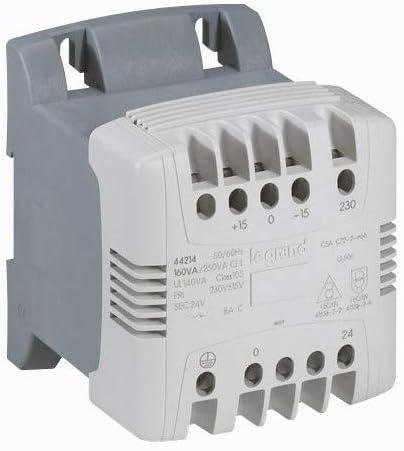 Primaire 230V /à 400V et Secondaire 24V /à 48V Legrand 044233 Transformateur de Commande et S/écurit/é /à Connexion /à Vis 100VA