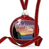 Christmas Decoration Lake retro design Lake Michigan Ornament