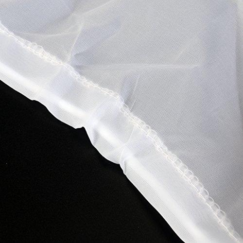 27c39b1e7 OULII Girls' Petticoat Half Slip 3 Hoop Flower Girl Crinoline Petticoat  Skirt, White,