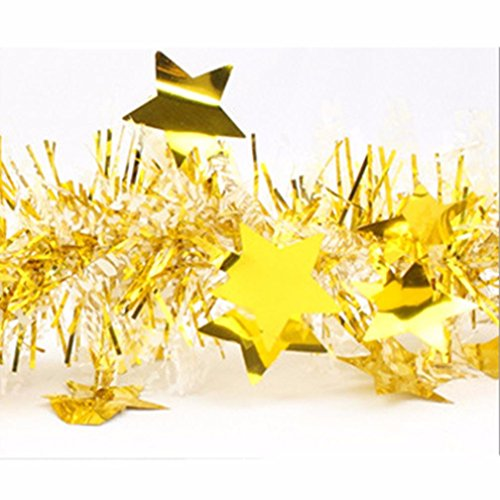 Iuhan Christmas Star Paper Garlands String Hanging Flag New Year Party Home Xmas Decoration (Elf Holiday Apron And Hat Adult)