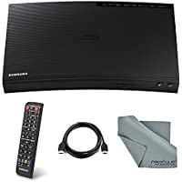Samsung BD-J5100 Curved Blu-Ray Disc Player with Remote control, HDMI Cable and FiberTique Cleaning Cloth