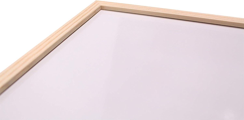 Chely Intermarket Pizarra blanca magnetica 90x60cm/Perfil-Marrón ...