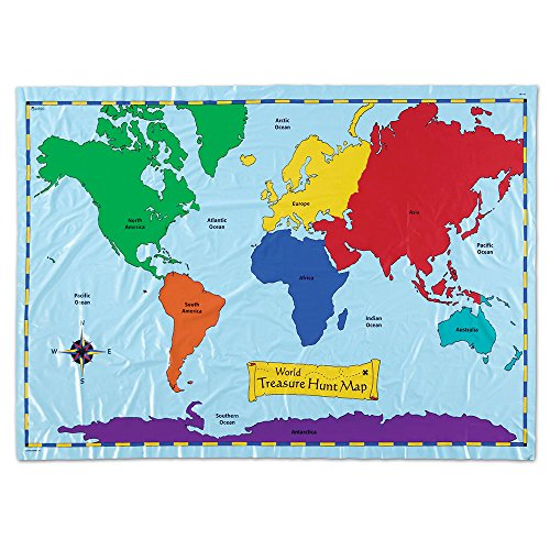 Treasure Hunt Wall (Learning Resources World Treasure Hunt Map)