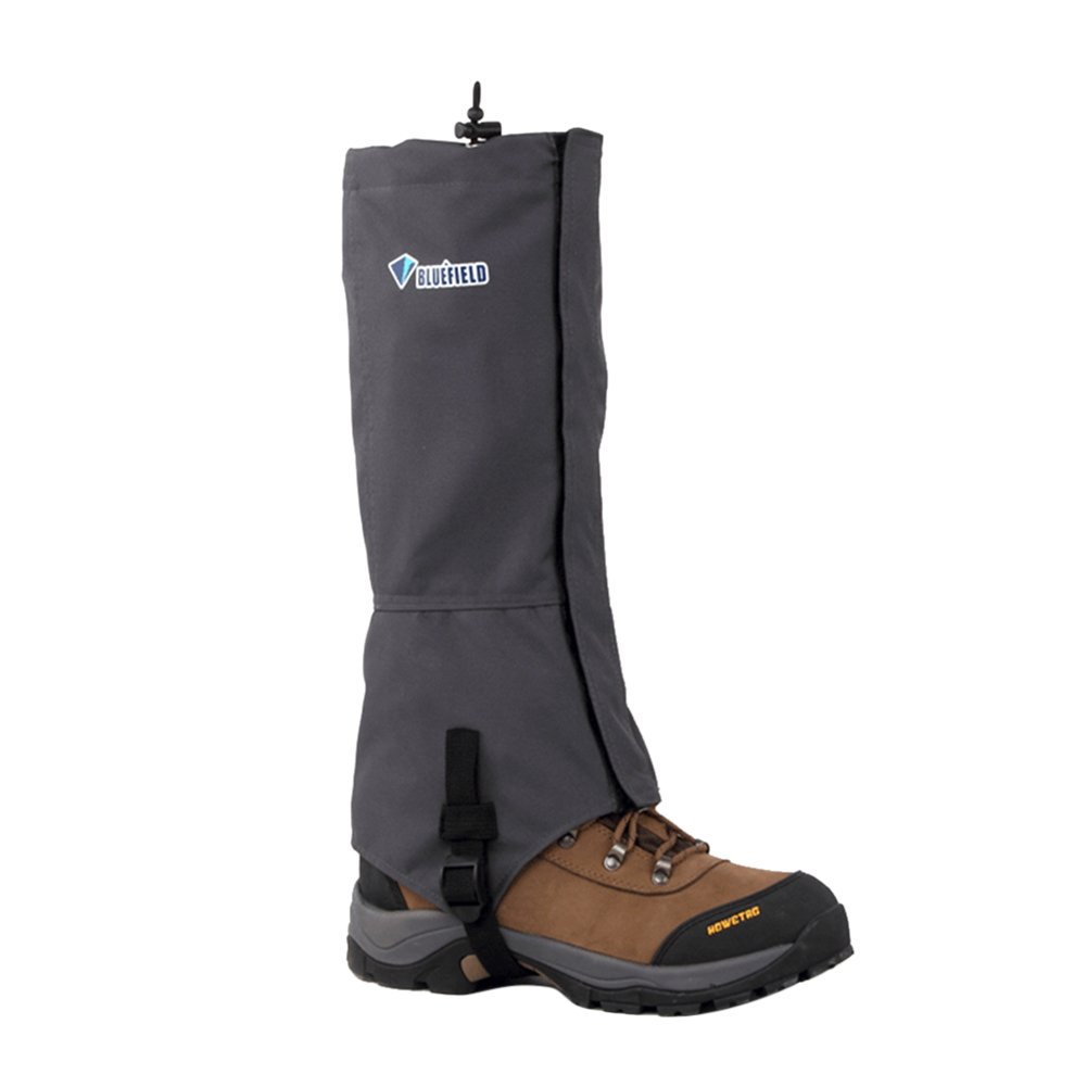 Riiya 防水スノーブーツカバー ゲートルレッグカバー 保護靴 スパッツ バイキング ボート 釣り スキー スノーボード用 Medium グレー B074QMNP2P
