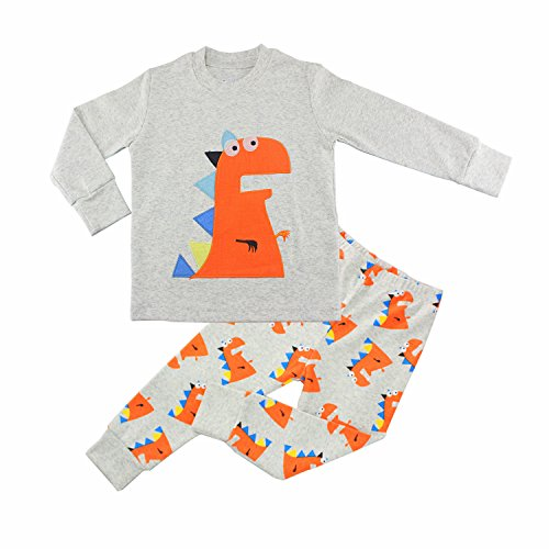 Mumkiss Kids Pajamas Set, 100% Cotton Children Sleepwear and Leisurewear (4T, Little Monster) ()