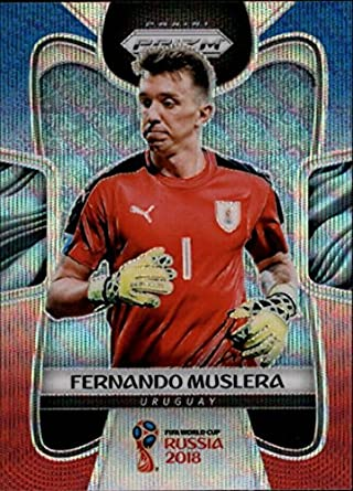cb03105a051 2018 Panini Prizm Prizms Refractor Red and Blue Wave  212 Fernando Muslera  Uruguay World Cup
