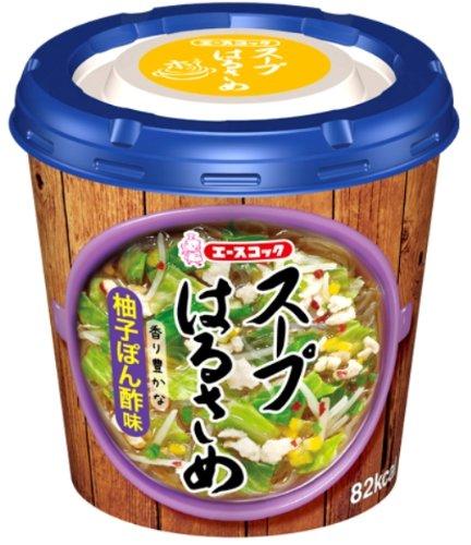 ACECOOK Instant Harusame(Cellophane noodle) Soup, Yuzu-ponzu(Japanese citrus seasoned soy sauce), 1.1oz x 6 cups(for 6 servings) [JAPAN IMPORT]