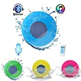 Syvo BTS-06 WaterProof Bluetooth Shower Speaker With Mic Wireless Portable Stereo - Best for Bath, Pool, Car, Beach, Indoor/Outdoor Use (Color May Vary)
