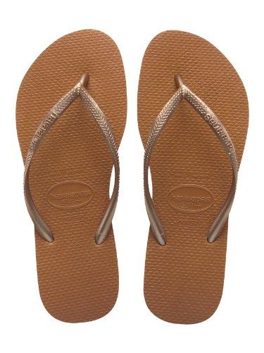 Slim Abierto Graphic Para Con Zapatillas Mujer Casa Cobre Havaianas Por De Estar Talón B6qqdaw