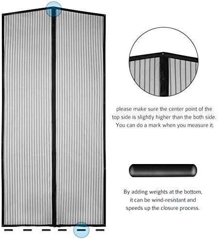 115x230cm Facile /à Installer Moustiquaire magn/étique MODKOY Moustiquaire Porte Automatiquement ferm/é Pliable Noir for Le Salon//Porte Patio