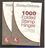 Stanley Gibbons Stamp Hinges 1 Packet Of 1000 - Folded and Peelable