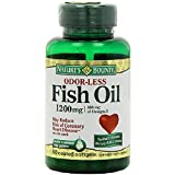Nature's Bounty Odorless Fish Oil, 1200mg, Softgels, 60 ea (Pack of 8)