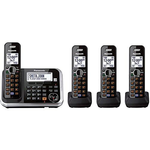 Panasonic KXTG6844B Dect 6.0 Expandable Digital Cordless Answering System with 4 Handsets (Discontinued By Manufacturer) - Dect 6.0 Cordless System