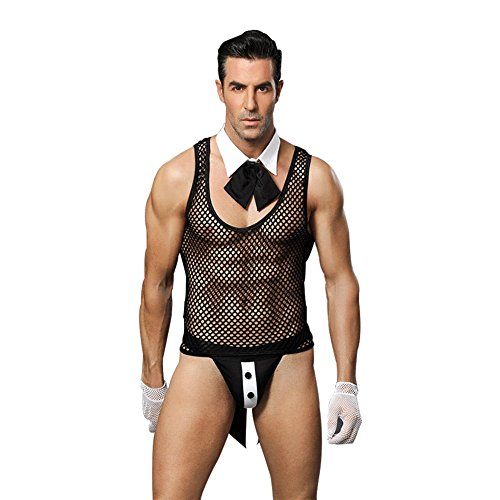 - Honiee Mens 5PCS Butler Costume Outfit (Butler)