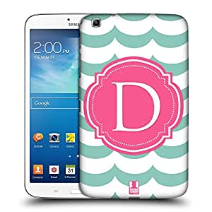 Head Case Designs Letter D Cases Hard Back Case Cover for Samsung Galaxy Tab 3 8.0 T311 T315 T310