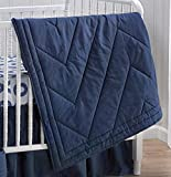 CoCaLo Collection Reversible Comforter 100% Cotton Sateen (Navy Blue)