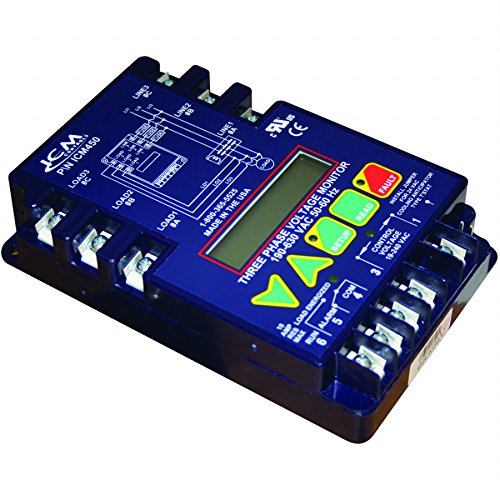Find a ICM Controls ICM450 3-Phase Monitor, 25-Fault Memory, LCD Setup and Diagnostics, Fault Identification