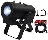 Chauvet DJ Gobo Zoom USB Custom Gobo Projector Light W/10 Gobos+Clamp+DMX Cable