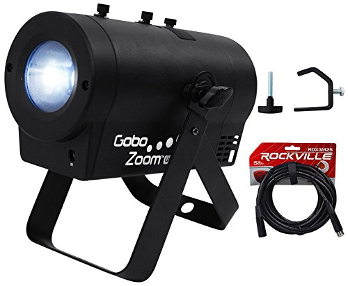 Chauvet DJ Gobo Zoom USB Custom Gobo Projector Light W/10 Gobos+Clamp+DMX Cable by Chauvet