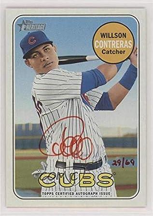 Amazoncom Willson Contreras 69 Baseball Card 2018 Topps