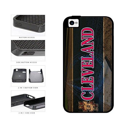 BleuReign(TM) Hashtag Cleveland #Cleveland Baseball Team 2-Piece Dual Layer Phone Case Back Cover For Apple iPhone 4 4s (Cleveland Indians Iphone 4s Case)