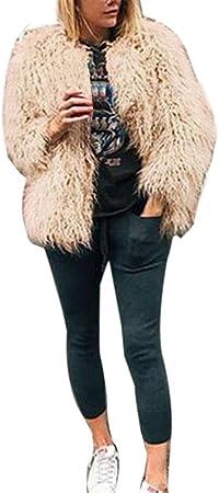 Chaquetas de Lana Tallas Grandes Elegantes Rebajas Invierno para Mujer,PAOLIAN Abrigos Piel sintética trenka Calientes Anchas otoño Señora Chaquetón Acolchado Parka Fiesta Dama