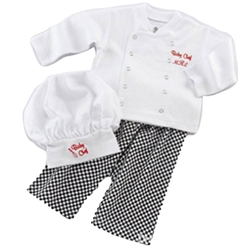 LC Boutique Unisex Baby Boy or Girls Chef Costume for sizes 6 Months to 3T