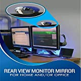 Never-startle Computer Rear-view Monitor Mirror (Black)