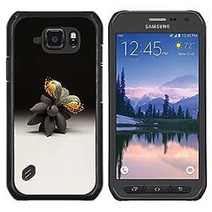 EJOOY---Cubierta de la caja de protección para la piel dura ** Samsung Galaxy S6Active Active G890A ** --Arte Naturaleza Artificial Flor abstracta moderna