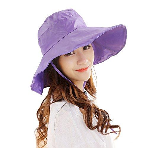 Women's Rain Hats Waterproof Rain Hat Wide Brim Bucket Hat Rain Cap Sun Hats ()